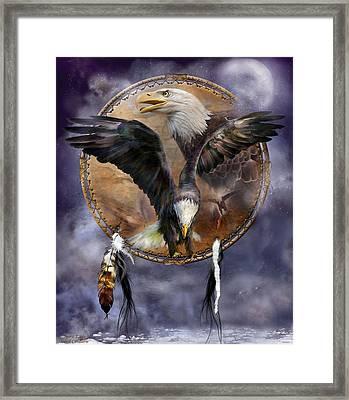 Dream Catcher - Spirit Eagle 3 Framed Print by Carol Cavalaris