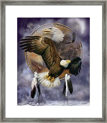 Dream Catcher - Spirit Eagle Framed Print