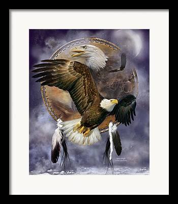 Eagle Mixed Media Framed Prints