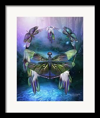 Dragonfly Art Framed Prints