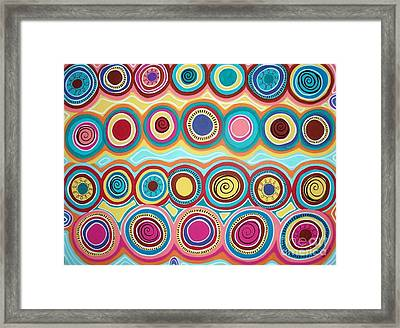 Dream Circles Framed Print by Karla Gerard
