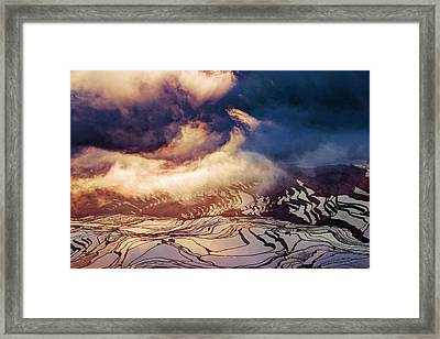 Dream Clouds Framed Print by Midori Chan