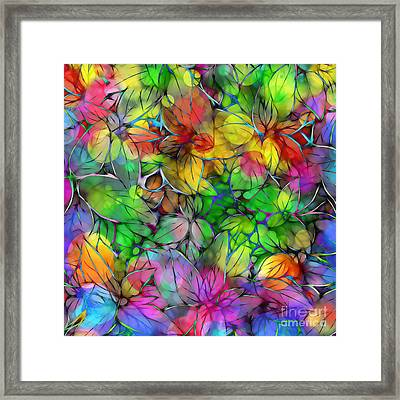 Framed Print featuring the digital art Dream Colored Leaves by Klara Acel