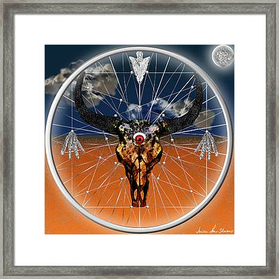 Framed Print featuring the digital art Dream Guardian by Iowan Stone-Flowers