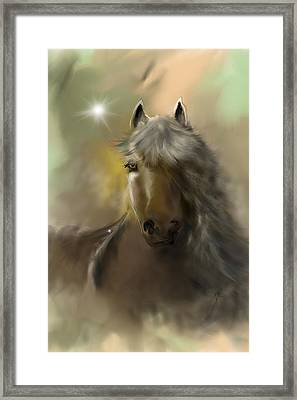 Framed Print featuring the digital art Dream Horse by Darren Cannell