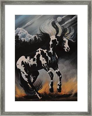 Dream Horse Series 12 - When Night Fall's Framed Print
