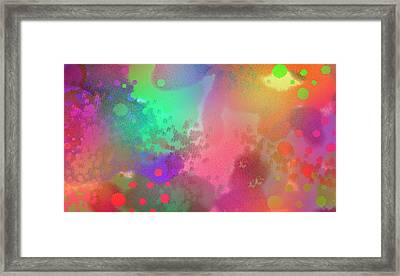 Dream In Abstract - Pointillist Digital Painting Framed Print by Rayanda Arts