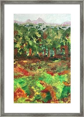 Framed Print featuring the painting Dream In Green by Norma Duch