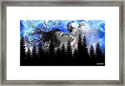 Dream Is The Space To Fly Farther Framed Print by Paulo Zerbato