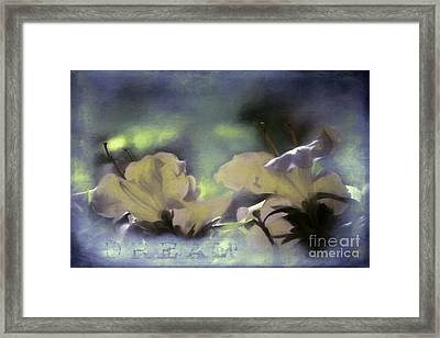 Dream Framed Print by Jean OKeeffe Macro Abundance Art