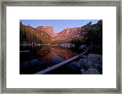 Framed Print featuring the photograph Dream Lake by Gary Lengyel