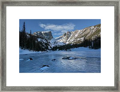 Framed Print featuring the photograph Dream Lake Morning by Aaron Spong