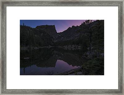 Framed Print featuring the photograph Dream Lake Reflections by Gary Lengyel