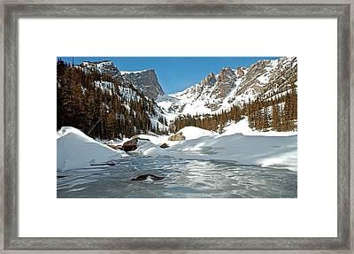 Dream Lake Rocky Mountain Park Colorado Framed Print by James Steele