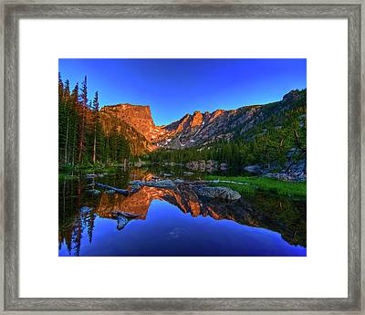 Dream Lake Sunrise Rocky Mountain Natl Park Framed Print