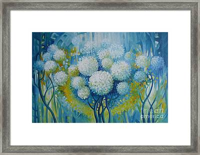 Framed Print featuring the painting Dream Land by Elena Oleniuc