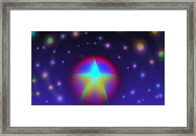 Dream Like A Super Star Framed Print