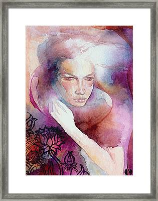 Dream Lotus Framed Print by Ragen Mendenhall