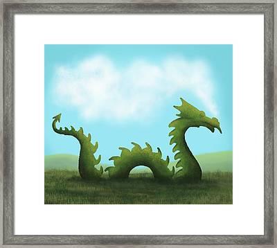 Dream Of A Dragon Framed Print by Little Bunny Sunshine
