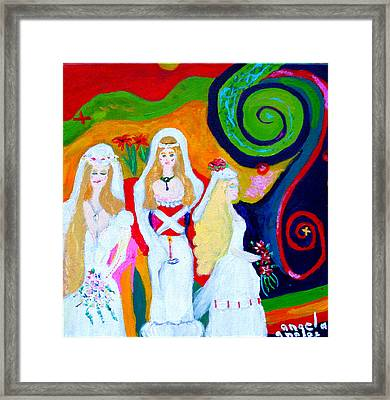 Dream Of A Jungian Marriage Framed Print by Angela Annas