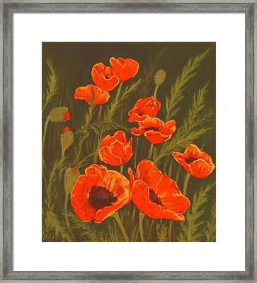 Dream Of Poppies Framed Print