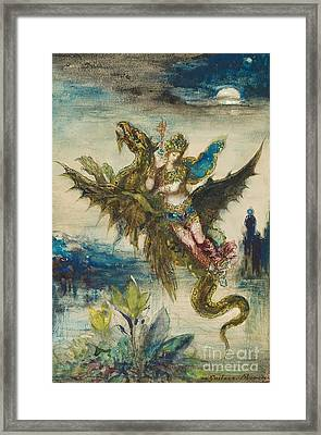 Dream Of The Orient Or The Peri Framed Print by Gustave Moreau