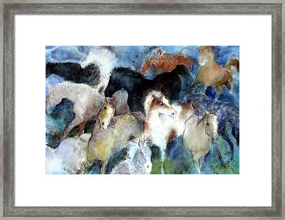 Dream Of Wild Horses Framed Print
