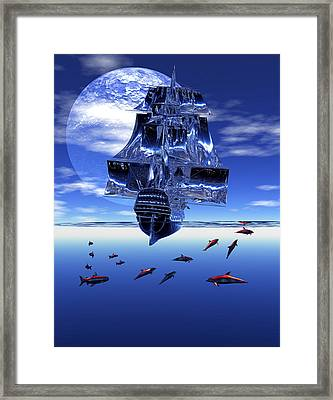 Dream Sea Voyager Framed Print by Claude McCoy