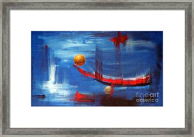 Framed Print featuring the painting Dream Ship by Arturas Slapsys