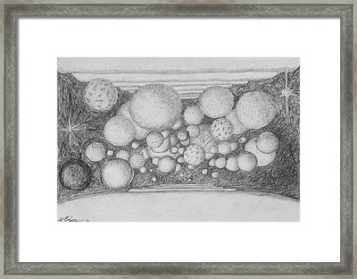 Framed Print featuring the drawing Dream Spirits by Charles Bates