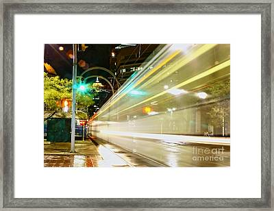 Dream Subway Train Framed Print by Daniel J Ruggiero