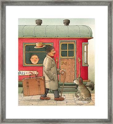 Dream Suitcase Framed Print by Kestutis Kasparavicius