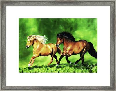 Framed Print featuring the painting Dream Team by Shari Nees