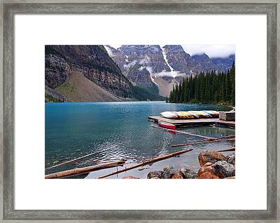 Moraine Lake, Ab  Framed Print