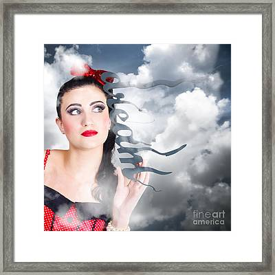Dream To Make Believe. Growth Of Imagination Framed Print by Jorgo Photography - Wall Art Gallery
