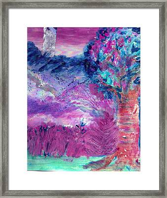 Dream Tree In Sugarland Framed Print by Anne-Elizabeth Whiteway