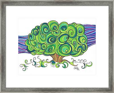Framed Print featuring the painting Dream Tree by Michael Ciccotello