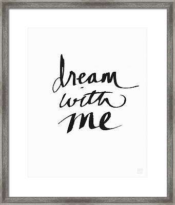 Dream With Me- Art By Linda Woods Framed Print by Linda Woods