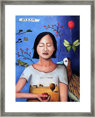 Dream Within A Dream 3 Framed Print by Leah Saulnier The Painting Maniac