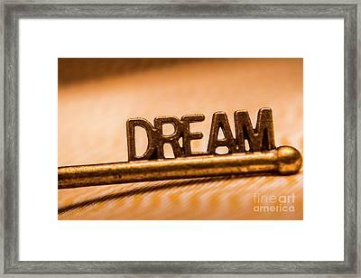 Dream Words Framed Print