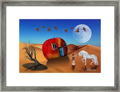 Dream World Framed Print by Surreal Photomanipulation