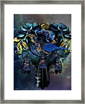 Dreamcatcher Blues 02 Framed Print by G Berry