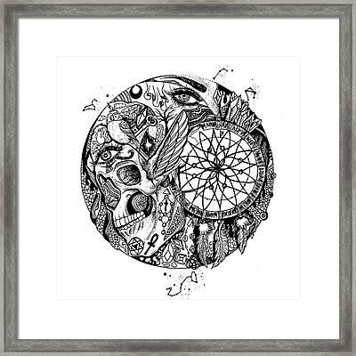 Dreamcatcher Circle Drawing No. 1 Framed Print by Kenal Louis