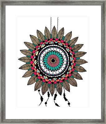 Dreamcatcher Mandala Framed Print by Elizabeth Davis