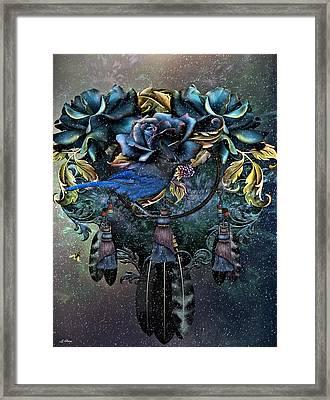Dreamcatcher Winter Blues Framed Print by G Berry