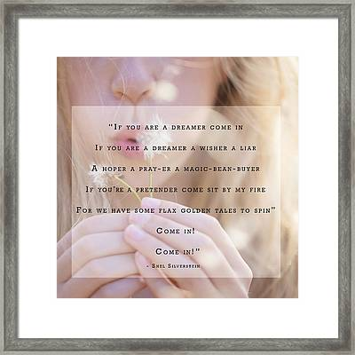 Dreamer Framed Print by Lisa Phillips