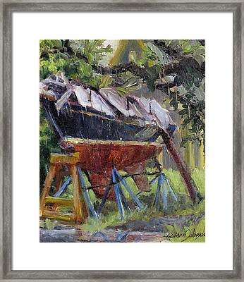 Dreamin' In The Rain Framed Print by L Diane Johnson