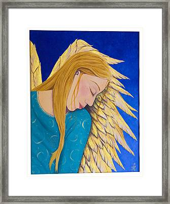 Dreaming Angel Framed Print by Jacqueline Lovesey