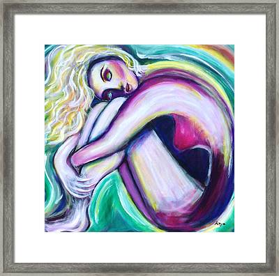 Framed Print featuring the painting Dreaming by Anya Heller