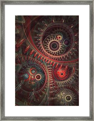 Dreaming Clocksmith Framed Print by Martin Capek